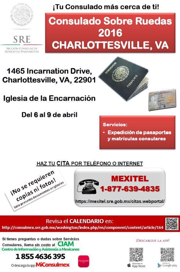 Volante CHARLOTTESVILLE VA del 6 al 9 de abril (1)