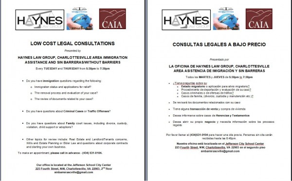 Low Cost Legal Consultations every Tuesday and Thursday!