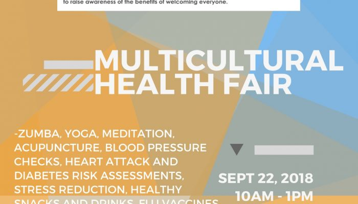 Stop by the Multicultural Health Fair- Sept 22, 10am to 1pm